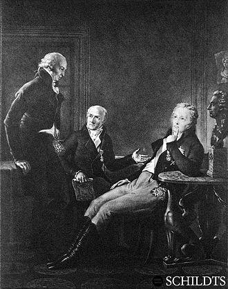 Aminoff - Three Gustavians. J.F. Aminoff (l.), J.A. Ehrenström and G.M. Armfelt (r.)