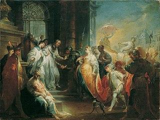 Die Zurückweisung der Kaiserin Eudoxia durch den heiligen Johannes Chrysostomus