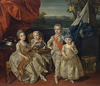 Princess Maria Antonia of Parma - Maria Antonia with her siblings in 1779.