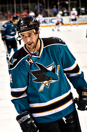 Jonathan Cheechoo - Cheechoo in 2009 with the San Jose Sharks