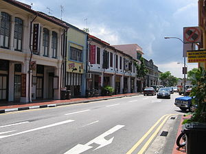 Joo Chiat Road - Conserved shophouses lining Joo Chiat Road