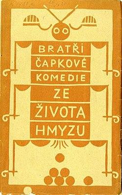 Josef Čapek - Karel Čapek, Ze života hmyzu (obálka knihy, 1921).jpg