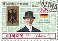 Josef Neckermann 1972 Ajman stamp.jpg