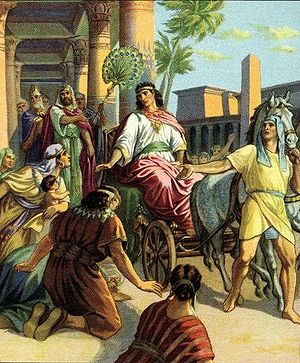 English: Joseph made ruler in Egypt
