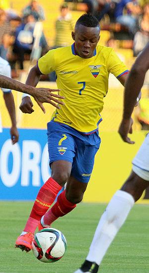 Juan Cazares - Cazares playing for Ecuador in 2015