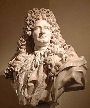 Jules Hardouin-Mansart - Jules Hardouin-Mansart, marble bust by Jean-Louis Lemoyne: a full-dress Baroque portrait bust demonstrates that the King's architect is no mere craftsman