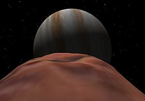 Amalthea (moon) - Simulated view of Jupiter from Amalthea.