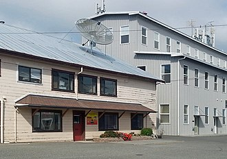 KHUM - The KHUM studios in Ferndale, California. (left)