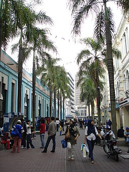 A pedestrian mall by the Central Market. KL-CentralMarket pedmall.JPG