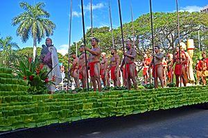 Kamehameha Day - Kamehameha Day Floral Parade - Kamehameha float, June 11, 2016