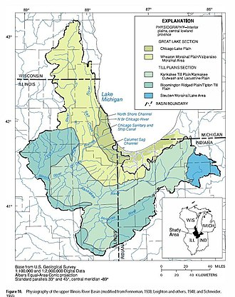 Northwest Indiana - Physiography of the Upper Illinois River Basin
