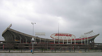 Victory Tour (The Jacksons tour) - Arrowhead Stadium, where the tour opened, as it appeared at the time