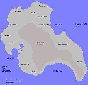 Katchal Island - Image: Katchal Island Map