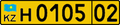 Kazakhstan foreign company license plate 2012.png