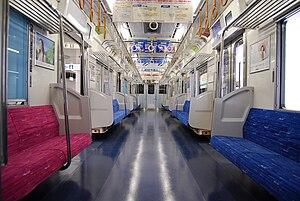 Keisei 3050 series - Image: Keisei 3050gata interior
