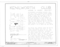 Kenilworth Club, 10 Kenilworth Avenue, Kenilworth, Cook County, IL HABS ILL,16-KENILL,1- (sheet 1 of 6).png