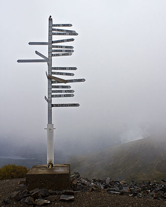 Keno City - Signpost at Keno Hill