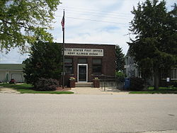 The U.S. Post Office in the unincorporated community of Kent, Illinois.