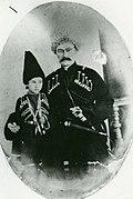 Khasay khan with his son Mekhiquli khan.jpg