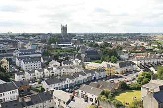 Kilkenny - Image: Kilkenny View from Round Tower to St Mary Cathedral 2007 08 28