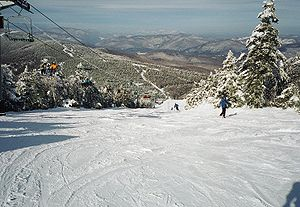 Killington Ski Resort - A view of the North Ridge area of Killington Peak in 2002