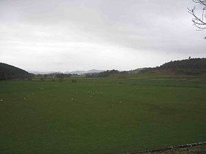 Kilmartin Glen - View of Kilmartin Glen south from Kilmartin village churchyard
