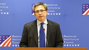 American Institute in Taiwan - AIT Director Kin W. Moy at the press conference in Taipei, October 27, 2015.