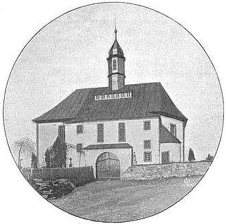 Breitenbrunn, Saxony - The church at Breitenbrunn about 1900