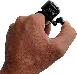 Bicycle bell - Bicycle bell with external clapper
