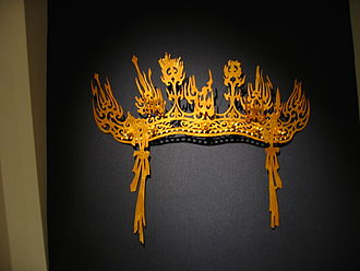 Goguryeo - A gilt-bronze crown from Goguryeo believed to have once adorned the head of a bodhisattva image.