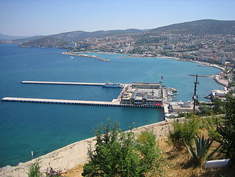 Kuşadası - A view of the city center and harbor