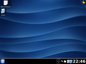 Screenshot of kubuntu 8.