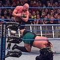 Kurt Angle ankle lock Samoa Joe.jpg