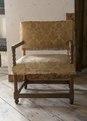 Länstol med blekt tyg, 1600-talets mitt - Skoklosters slott - 103959.tif