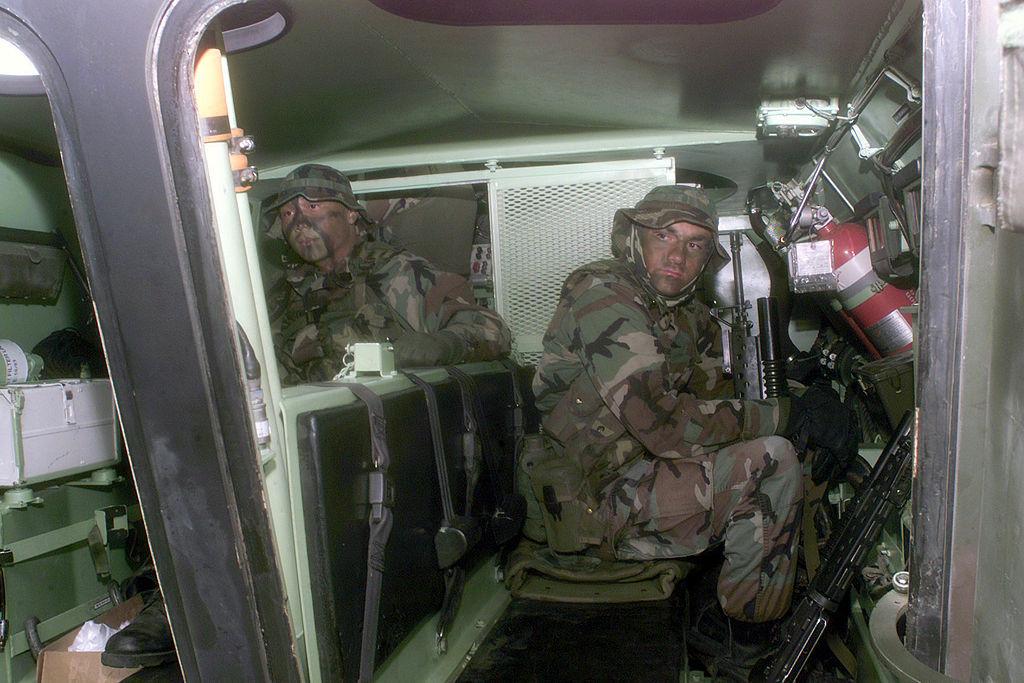 LAV-25 interior