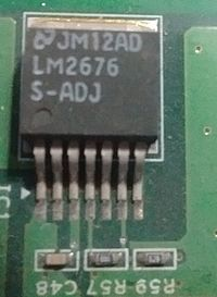 Switching regulator integrated circuit LM2676, 3A step-down converter. LM2676.jpg