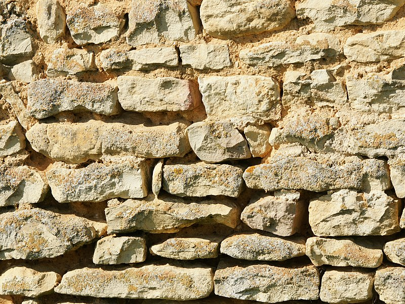 Stone wall detail at La Péranche, Charente, France
