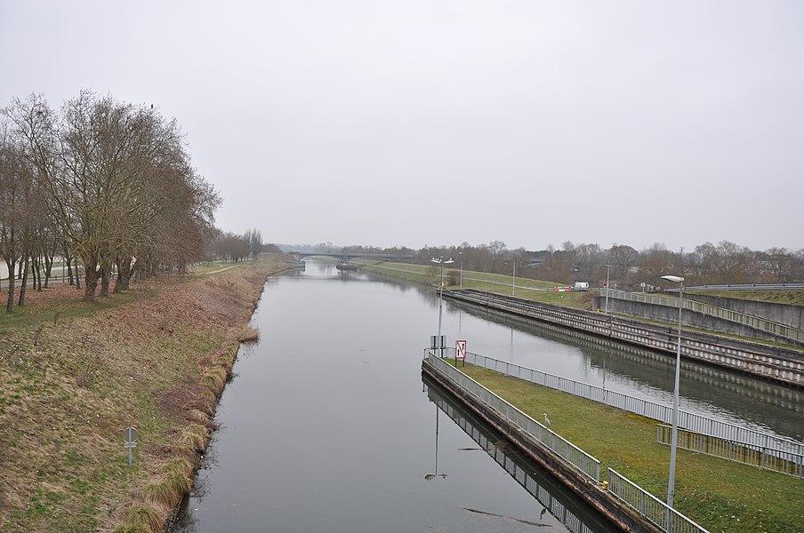 La Moselle Canalisée, Toul, Lorraine, France