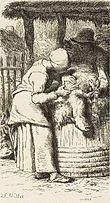 Labours of the fields-Woman shearing sheep (Millet).jpg