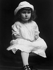 A portrait of Lady Bird Taylor at about age three