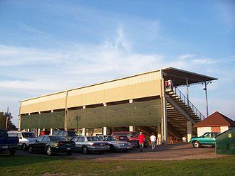 Langlade County, Wisconsin - Langlade County Fairgrounds grandstands in Antigo.