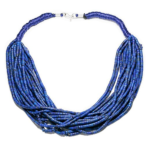 Lapis lazuli necklace and silver clasp