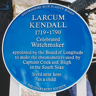 Larcum Kendall - A blue plaque to Larcum Kendall.