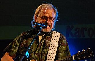Kliché - Lars H.U.G. during a concert in Karolinelund, Aalborg