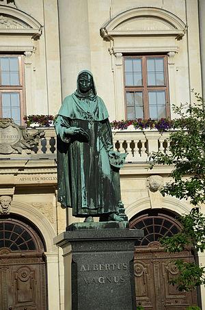 Lauingen - Lauingen Albertus Magnus memorial in front of the town hall