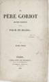 Le Père Goriot, 1er Volume, 1835.png