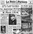 Le Petit Parisien - 20 janvier 1941 - Pétain Laval.jpg