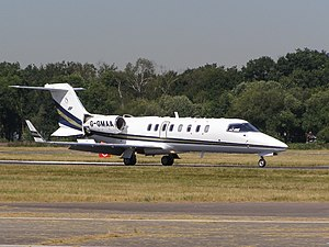 Learjet 45 - Gama Aviation Learjet 45 at Farnborough, England in July 2006