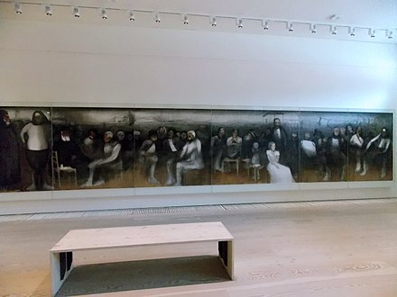 The World of Cyprus, an acrylic painting with a total length of 17.5 meters by Adamantios Diamantis in Leventis Gallery Leventis Gallery, Nicosia, Cyprus. Adamantios Diamantis - The World of Cyprus-1.jpg