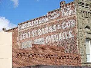 Levi Strauss & Co. - Levi Strauss advertising on a building in Woodland, California